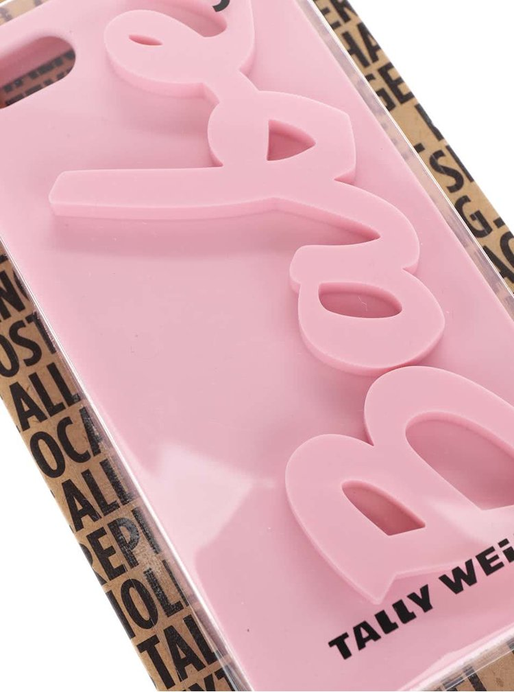 Carcasa roz TALLY WEiJL pentru IPhone 5