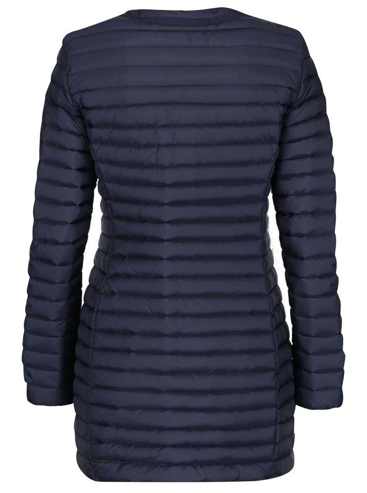 Tmavě modrá dámská péřová prošívaná bunda Geox