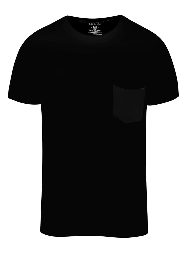 Černé triko s kapsou Blend