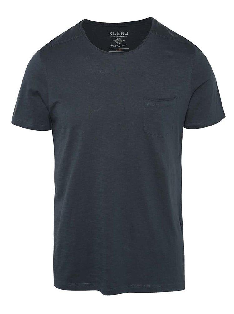 Petrolejové triko s malou náprsní kapsou Blend