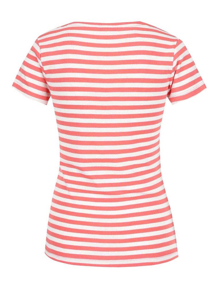 Růžové dámské pruhované tričko M&Co