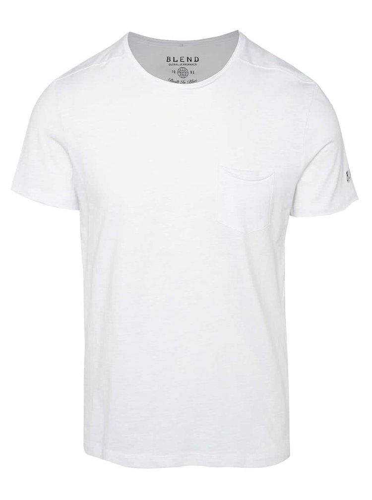 Tricou alb Blend cu buzunar