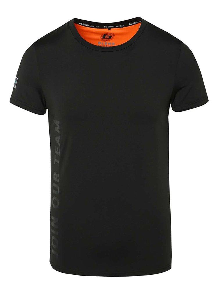 Černé funkční triko s krátkým Blend