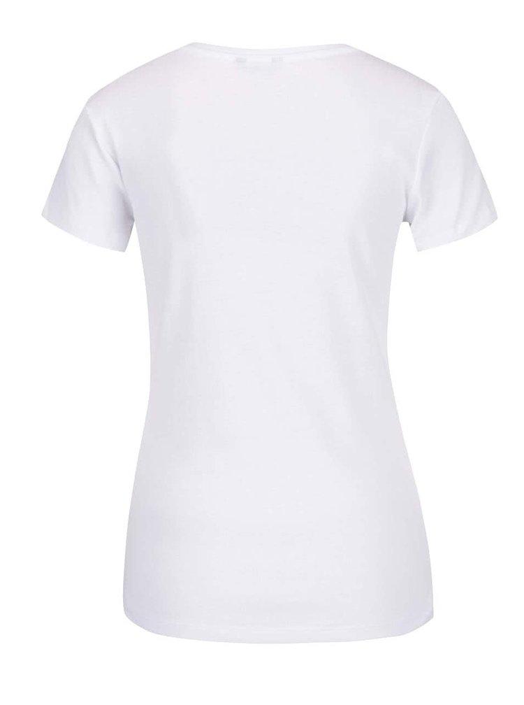 Bílé dámské tričko s krátkým rukávem M&Co