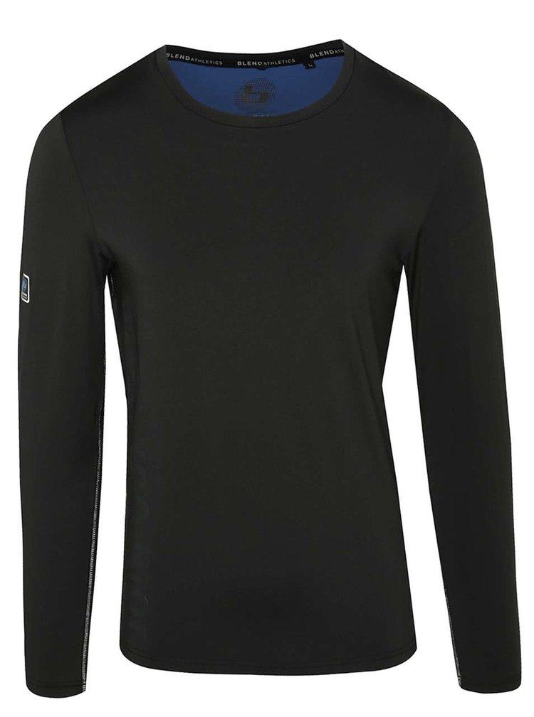Černé funkční triko s dlouhým rukávem Blend