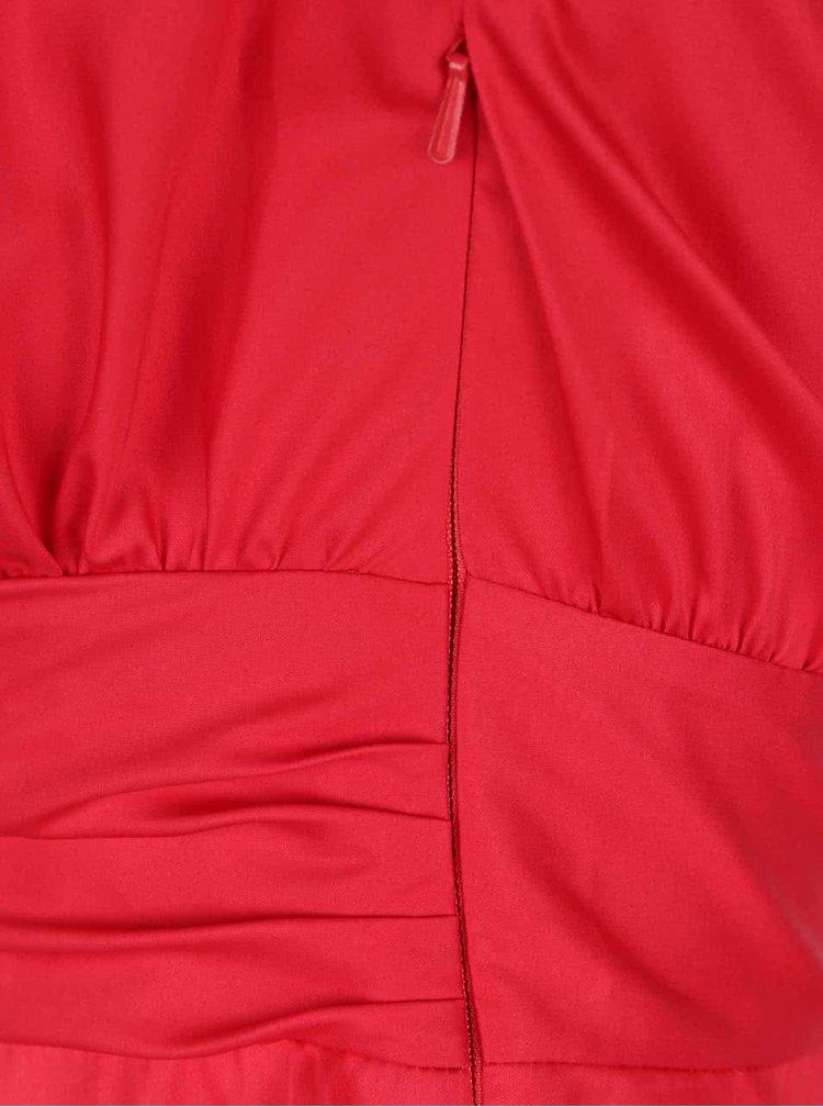 Rochie roșie Closet cu croi petrecut și mâneci scurte