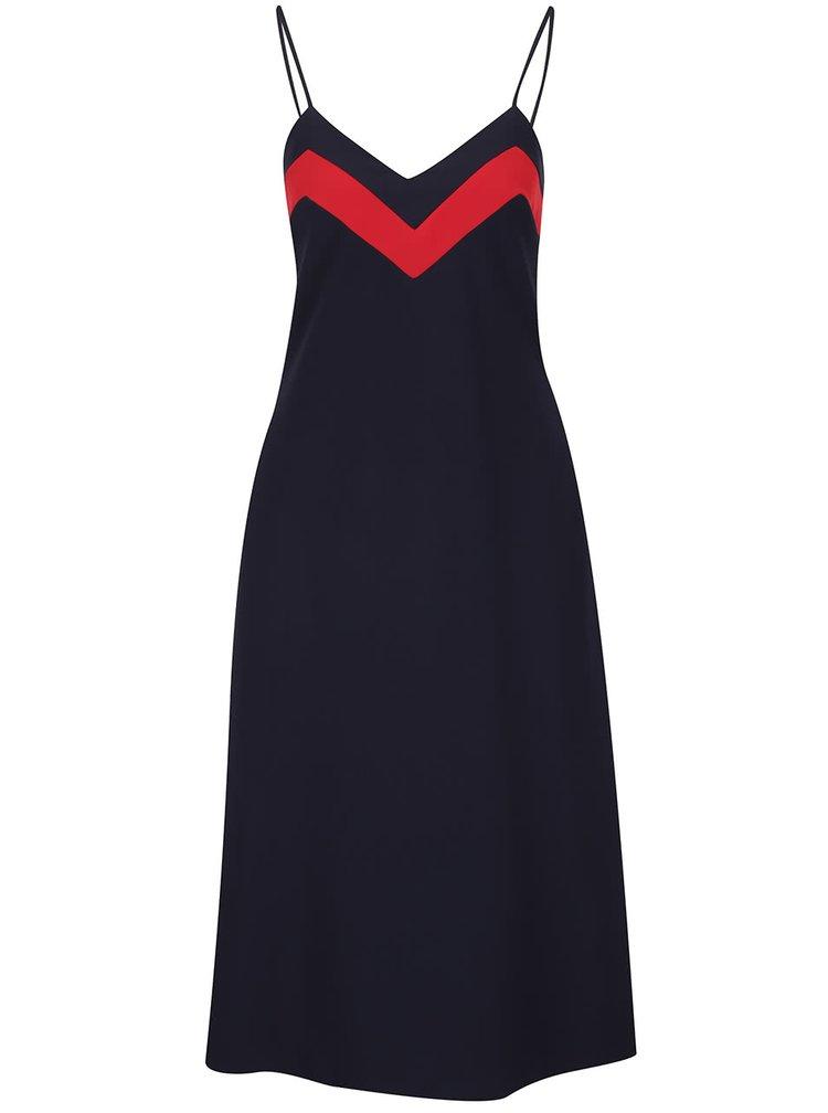 Tmavě modré šaty na ramínka s knoflíky na zádech Closet
