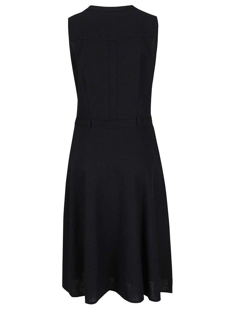 Rochie neagră M&Co cu cordon