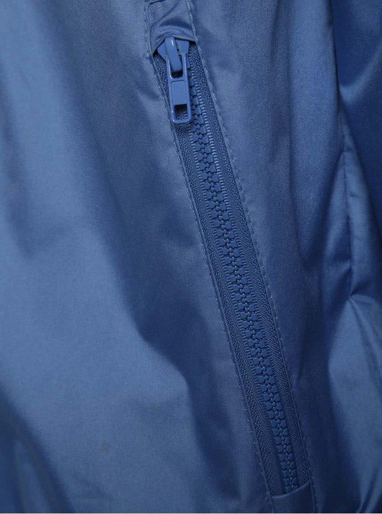 Jachetă albastră subțire Blend cu glugă