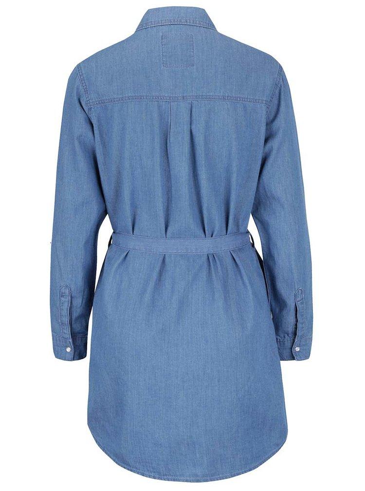 Camasa albastra M&Co din denim