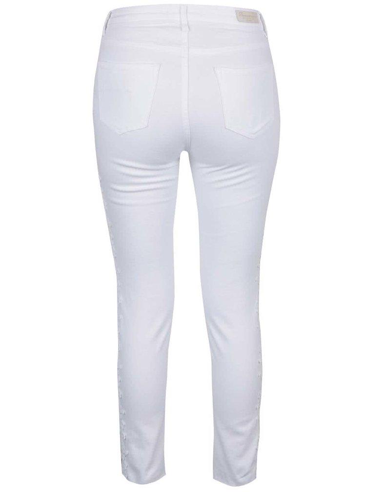 Bílé džíny s postranními krajkovými detaily TALLY WEiJL