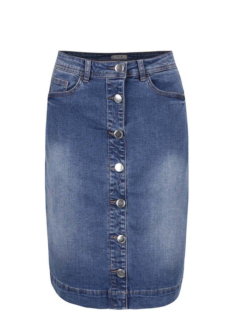 Modrá džínová sukně s knoflíky M&Co