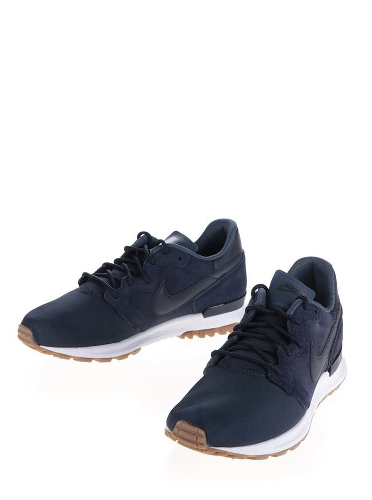 Pantofi sport albastru închis Nike Air Berwuda Premium cu detalii din piele întoarsă