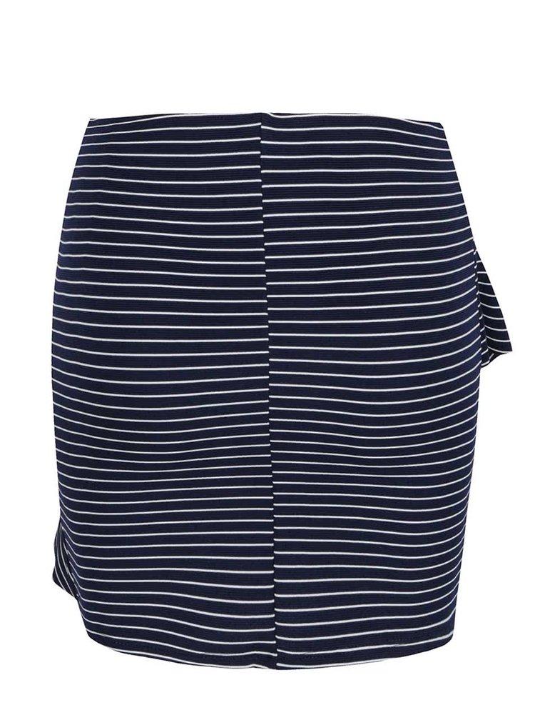 Modrá pruhovaná sukně TALLY WEiJL