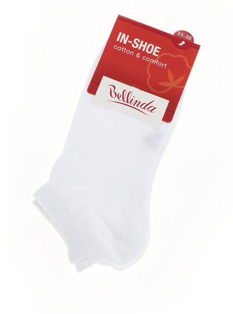 Bílé dámské kotníkové ponožky Bellinda In-Shoe
