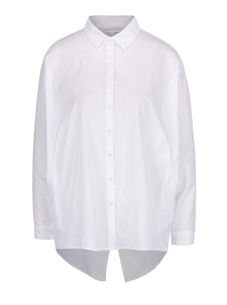 Bílá volná košile s překládaným zadním dílem Apricot