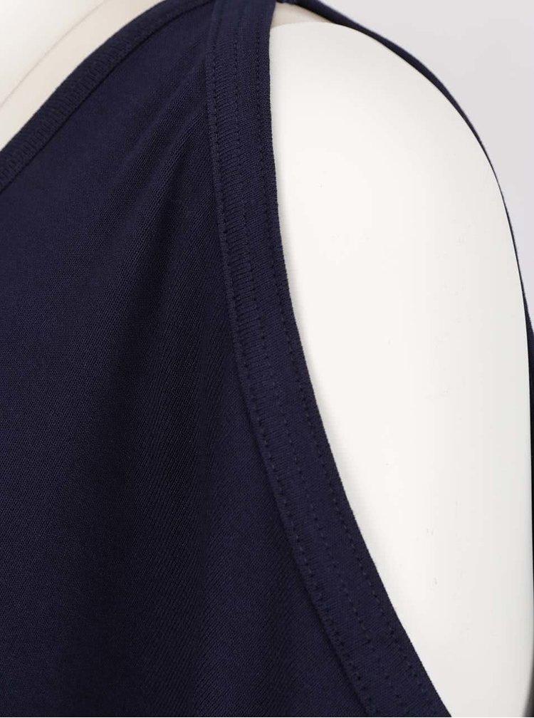 Rochie albastră Apricot cu decupaj pe umeri