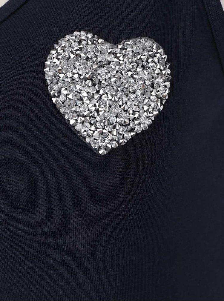 Tmavě modré tílko s aplikací ve stříbrné barvě Haily's Cami Linda Patch