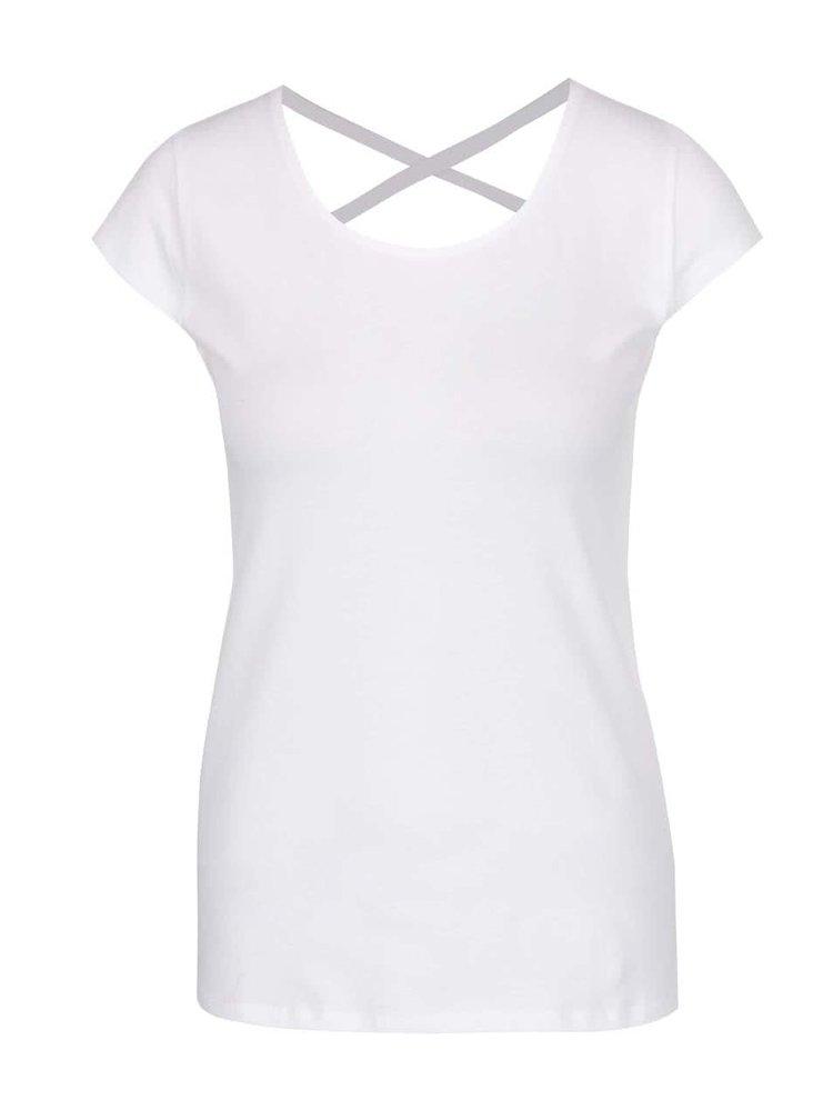 Biele tričko s detailom na chrbte Haily's Melanie