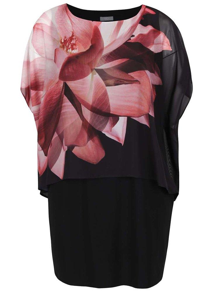 Rochie neagră M&Co cu model floral