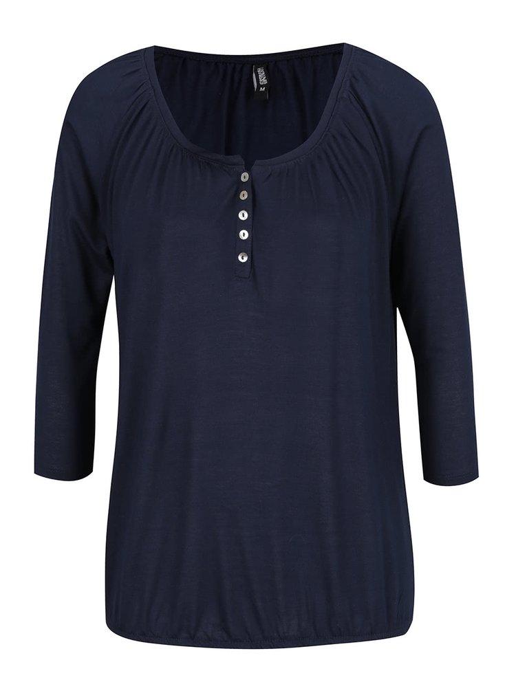 Bluză albastru închis Haily's Hilda cu mâneci 3/4