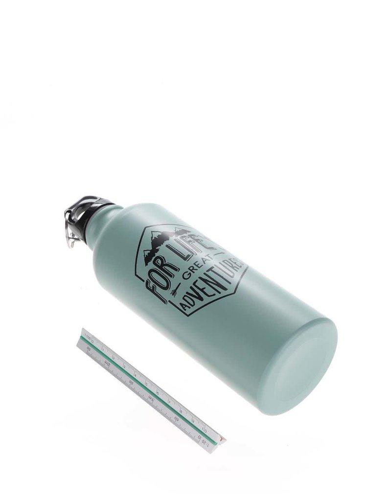 Tyrkysová cestovní lahev s potiskem CGB