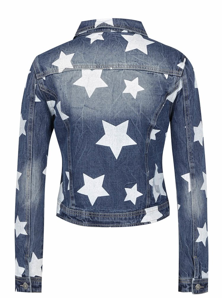 Modrá džinová bunda s potiskem hvězd Haily's Alisa