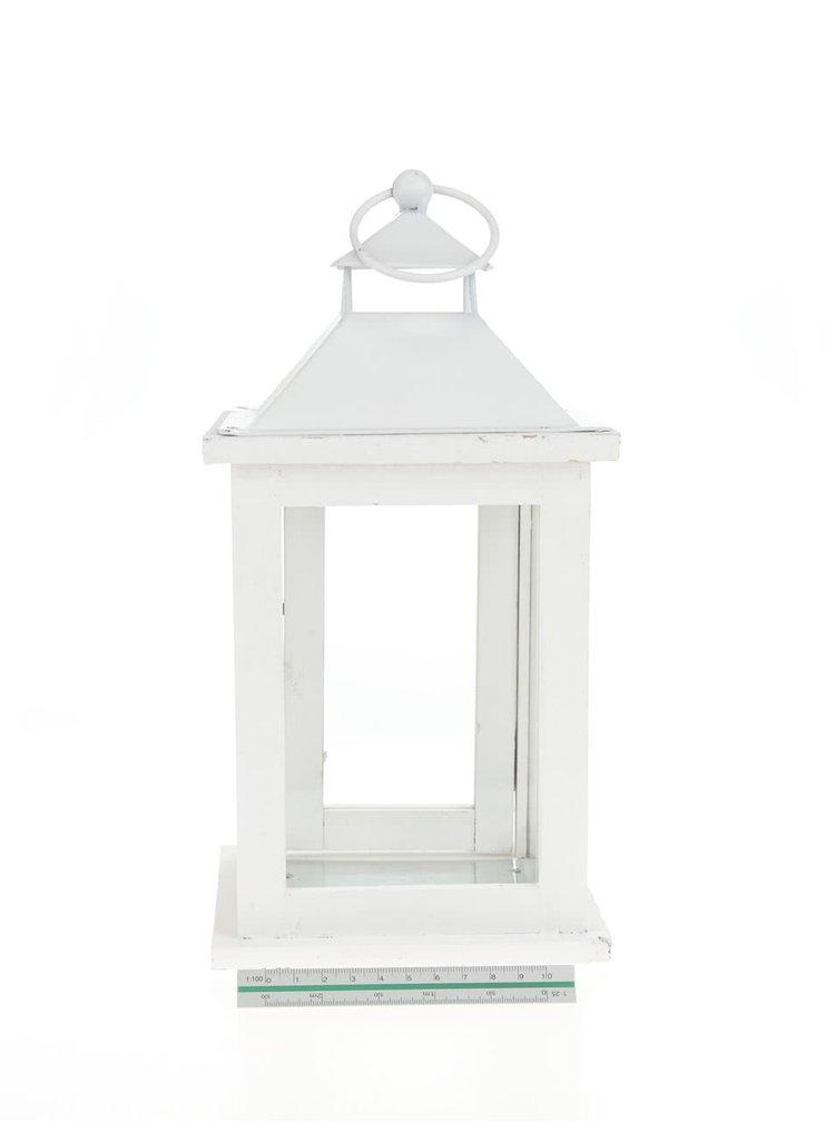 Bílá závěsná lucerna Dakls