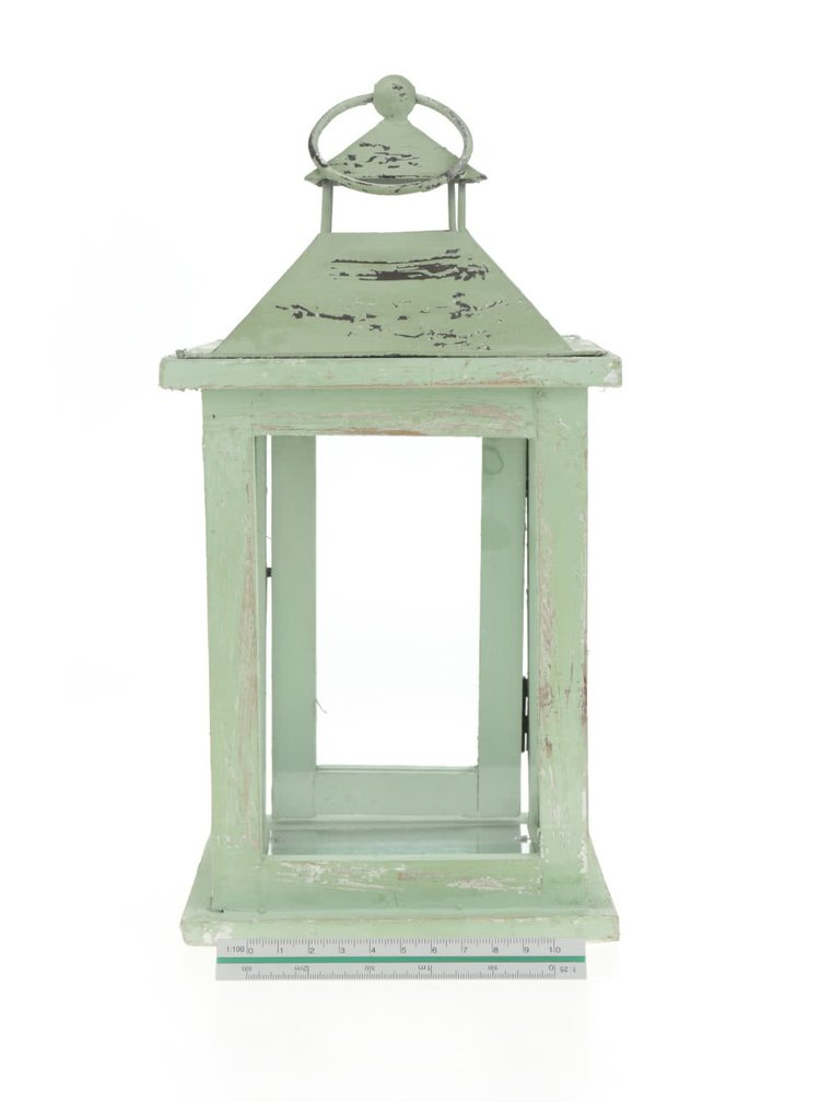 Světle zelená závěsná lucerna Dakls