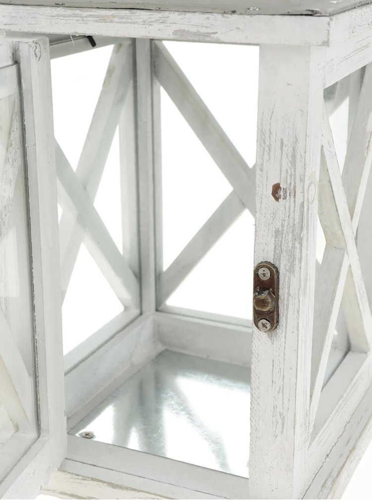 Krémová dřevěná závěsná lucerna Dakls