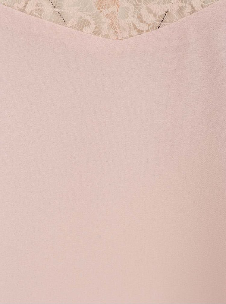 Růžová halenka s krajkou Haily´s Jessica