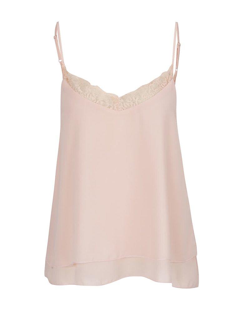 Top roz pal Haily´s Jessica cu bretele subțiri