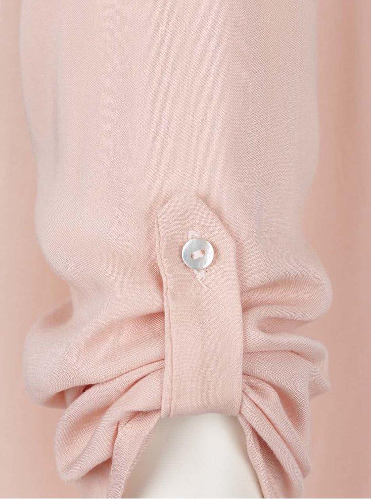 Světle růžová halenka ze zipem na zádech Haily's Lani