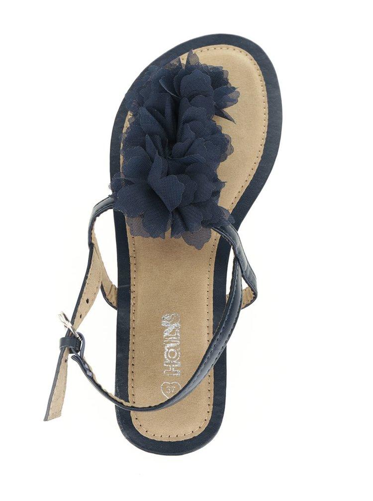 Tmavě modré sandály s květinovou ozdobou Haily's Rosa