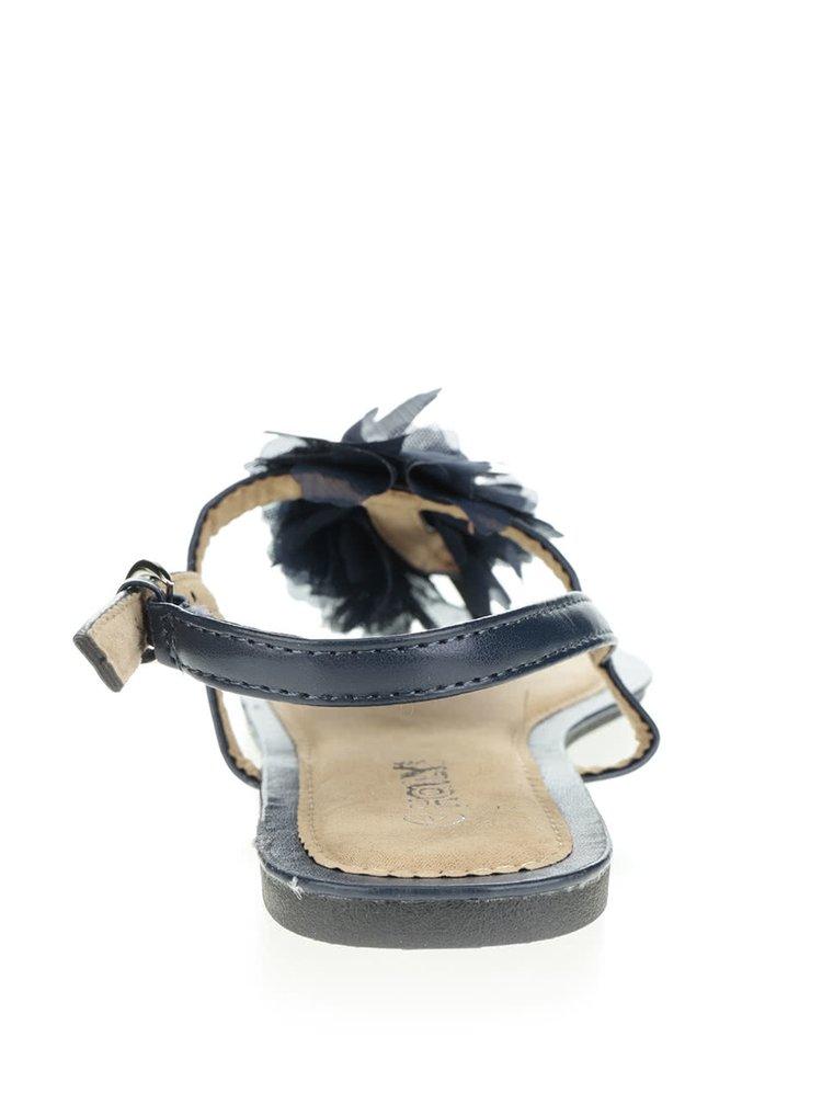 Sandale albastru închis Haily's Rosa cu detaliu