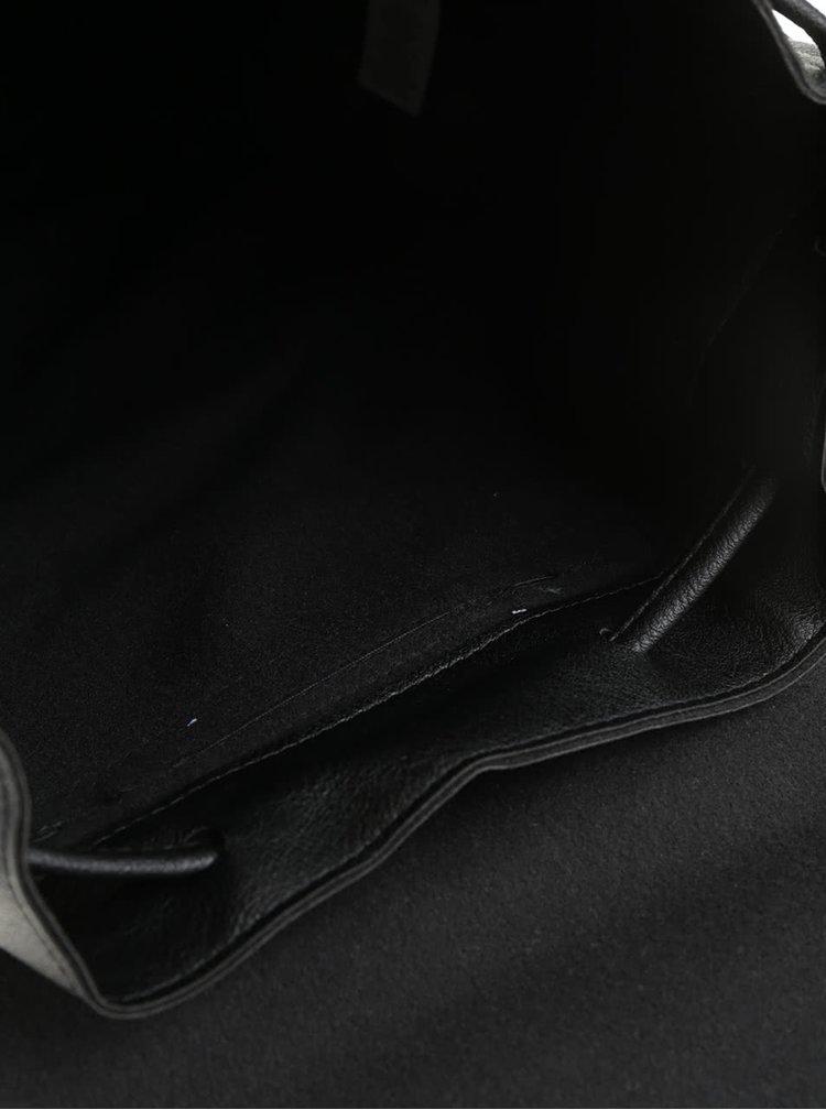 Černý koženkový batoh Haily's Lauren