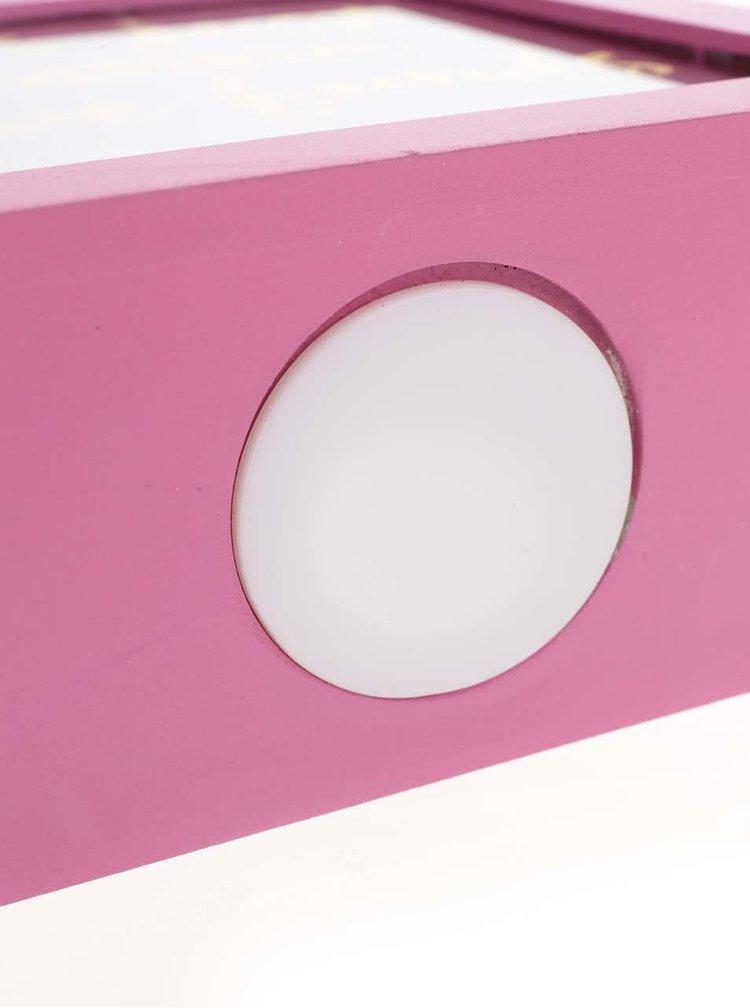 Růžová kasička s potiskem CGB