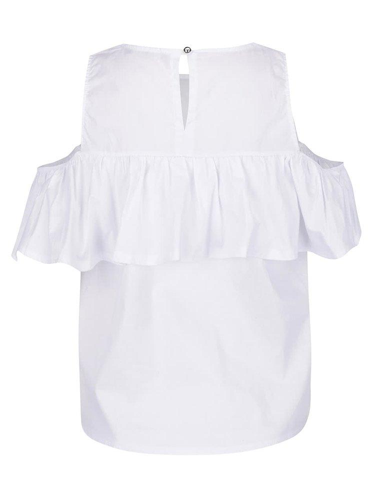 Bílá halenka s průstřihy na ramenou Haily's Marie