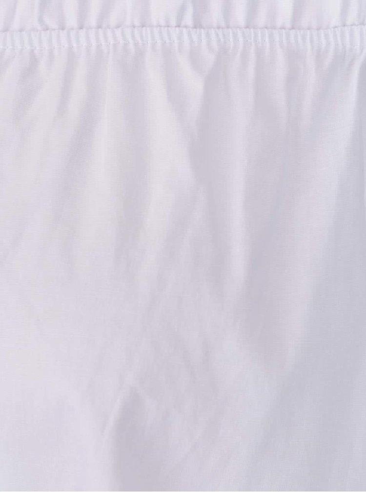 Top alb Haily's Cora cu decolteu pe umeri