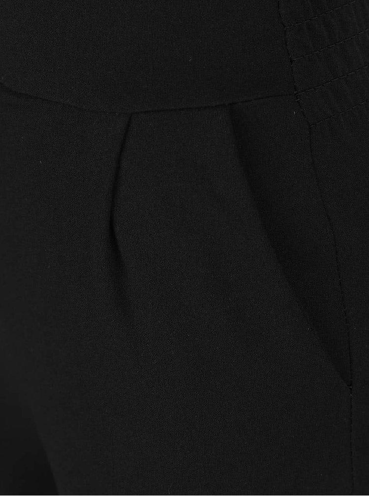 Krémovo-černý overal s překládaným květovaným topem Haily's Sandra