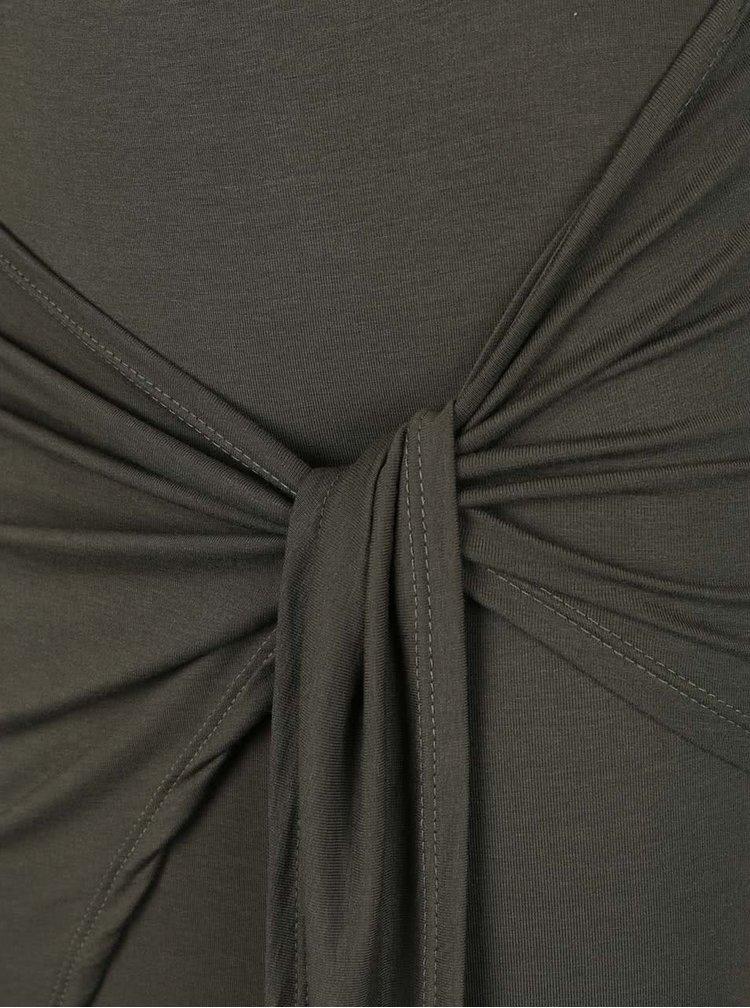 Khaki maxi sukně s rozparkem Haily's Racie