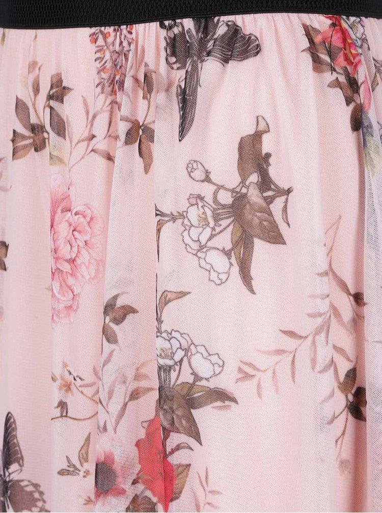 Růžová květovaná sukně Haily's Flower