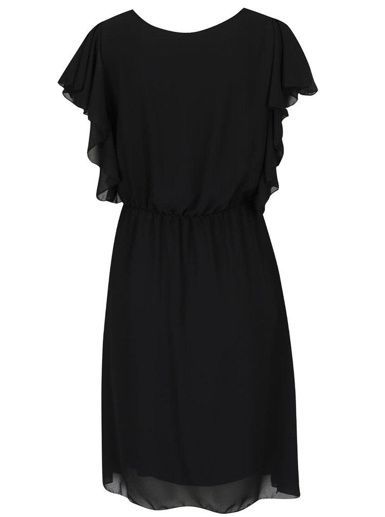 Černé šaty s volánovými rukávy  Haily's Beth