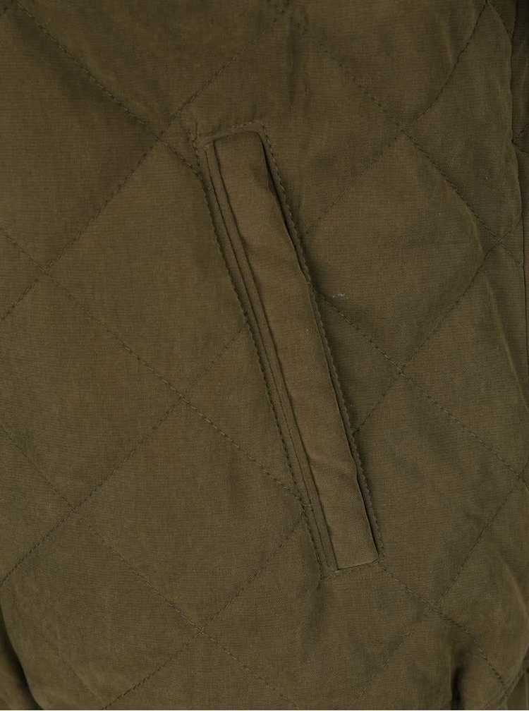 Khaki prošívaný  bomber Jacqueline de Yong New Treasure