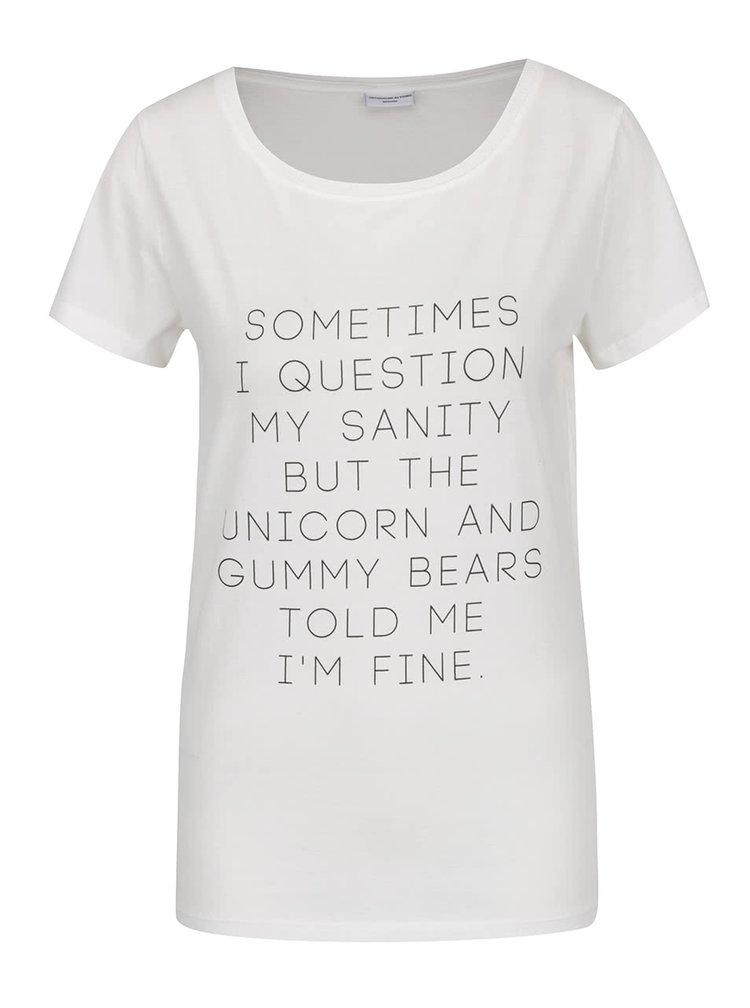 Krémové tričko s potiskem Jacqueline de Yong Chicago