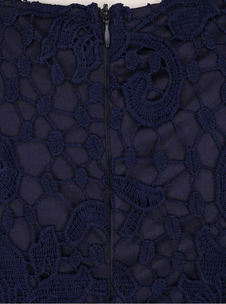 Rochie bodycon albastră AX Paris cu dantelă