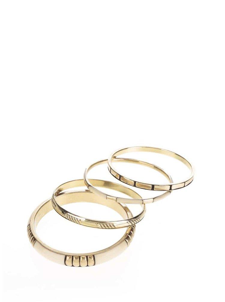 Set de patru brățări aurii Pieces Liala