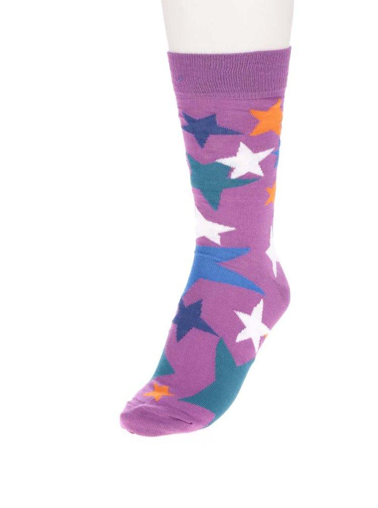 Set multicolor cu 3 șosete cu model cu steluțe Oddsocks Evan