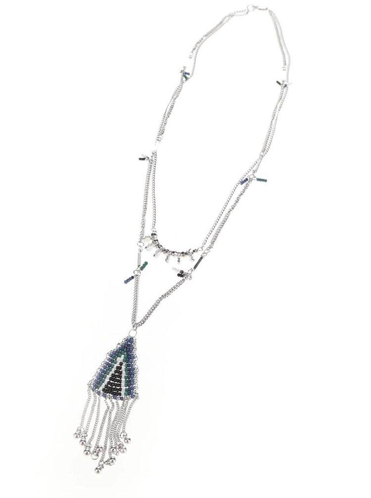 Dlouhý náhrdelník s modrými korálky Pieces Lia