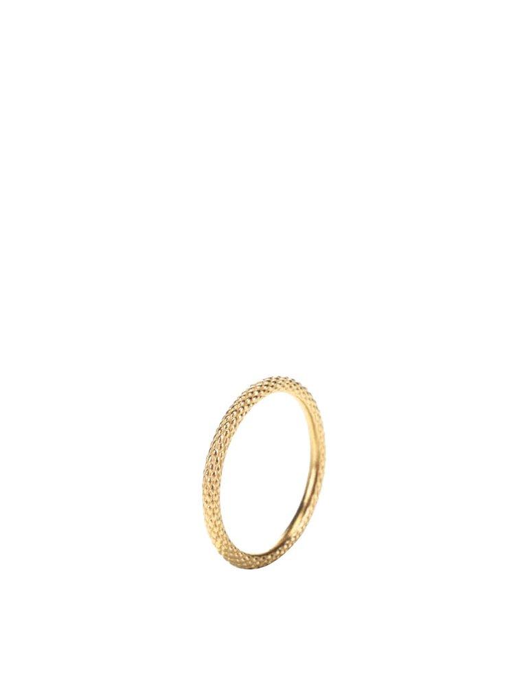 Pozlacený jemně vzorovaný prstýnek Pieces Jael
